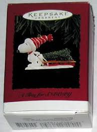 skiing snoopy ornament snoopy and brown
