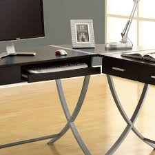 white hollow core corner desk