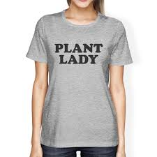 inc plant lady womens gray graphic shirt gift idea for plant lovers