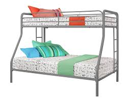 amazon com dorel home products twin over full bunk bed silver