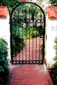 iron garden gates home outdoor decoration