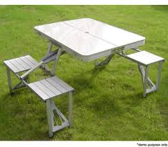 picnic tables folding with seats foldable portable picnic table w four seats online shopping