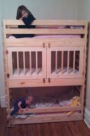 Make Wooden Loft Bed by Best 25 Bunk Bed Crib Ideas On Pinterest Toddler Bunk Beds
