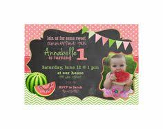 u0027s 1st birthday party invitations watermelon birthday
