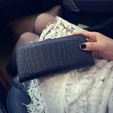 leather women s wallet pattern ru br crocodile pattern long wallet high quality pu leather women s