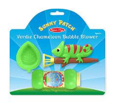 amazon com melissa u0026 doug sunny patch verdie chameleon bubble