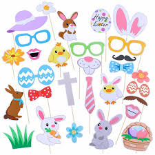 easter photo props 29pcs photo booth props happy easter mask diy egg bunny rabbit