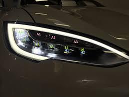 mercedes led headlights tesla model s led headlamp insight tesla motors club