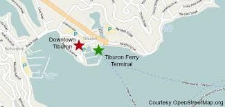 san francisco map downtown tiburon ferry san francisco ferries