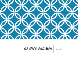 Writing Prompts for Of Mice and Men studylib net Of Mice and Men