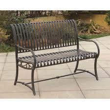 Black Patio Chairs by Outdoor Metal Patio Bench Bar Furniture Iron Black And Outdoor