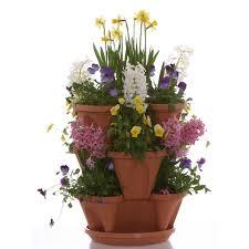 nancy janes 12 in self watering stacking planters set of 3