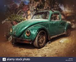 volkswagen old beetle dusty old vw beetle sayulita mexico stock photo royalty free