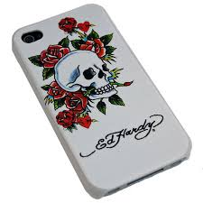 hardy backplate for iphone 4 skull and roses