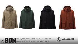 o khoác nam Uniqlo dáng di AK55 Uniqlo MEN MOUNTAIN PARKA