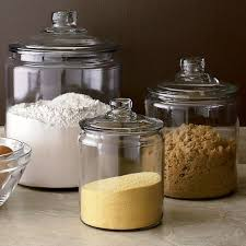 kitchen glass canisters with lids heritage hill glass jars with lid in top kitchen storage crate
