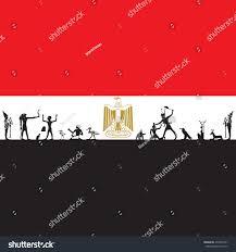 Egypt Flag Wallpaper Egyptian Flag Symbol Ancient Egypt Stock Vector 436952761