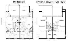 Duplex Plan Bradford Duplex Floorplan Hubbell Homes Building New Homes In