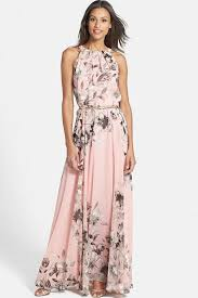 chiffon maxi dress pink floral printed chiffon maxi dress casual dresses women