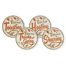 plates 8in thanksgiving sentiment set of 4 222 fifth target