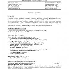 sles of memorial programs radiologic technology resume technologist sle template