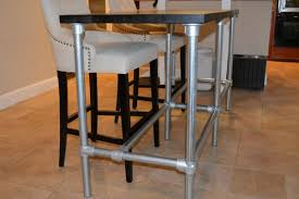 bar height table industrial diy counter height table with pipe legs pipe tables pinterest