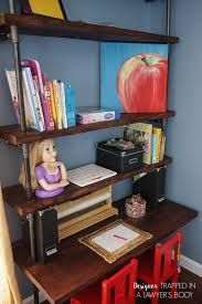 pipe desk with shelves diy pipe shelves and built in desks designer trapped in a lawyer s
