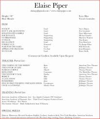 theater resume template actor resume template resume