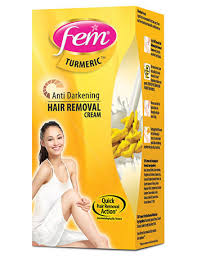 fem anti darkening hair removal cream gold for flawless smooth skin