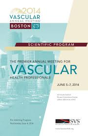 program book for the vascular annual meeting by society for