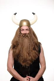 Barbarian Halloween Costume Fancy Dress Halloween Brown Wig U0026 Beard Erik Viking Chieftain
