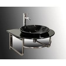 wall mount black glass bathroom vanity set free shipping today