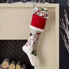 snowman christmas stocking crate and barrel