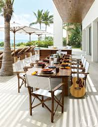 Mexican Patio Furniture by Cindy Crawford And Rande Gerber And George Clooney U0027s Side By Side
