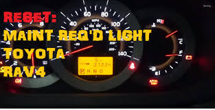 how to reset maintenance light on 2007 toyota highlander hybrid toyota rav4 maintenance required light reset youtube
