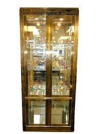 lighted curio cabinet oak interior lighted curio cabinet