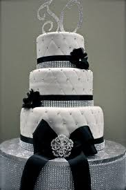black and white wedding cakes bling cake for team could be for wedding as well black and