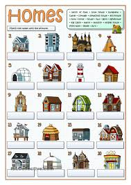 Types Of Houses Pictures Types Of Homes Free Esl Worksheets Concept Ideas Pinterest