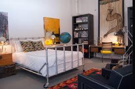 Industrial Bedroom Ideas Beautiful Industrial Bedroom Decor With Pipe Bed Frame Steel Leg