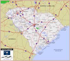 road map of south carolina south carolina road map map