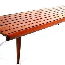 Slat Bench Mid Century Danish Modern Slat Bench Coffee Table