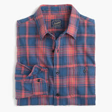 tall midweight flannel shirt in red and blue plaid men tall shop