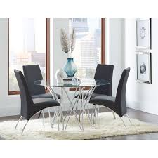 Metal Dining Room Tables by Coaster Furniture 120802 Ophelia Contemporary Vinyl And Metal