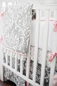 Solid Pink Crib Bedding Nursery Beddings Crib Bedding Sets Clearance As Well As Pink And