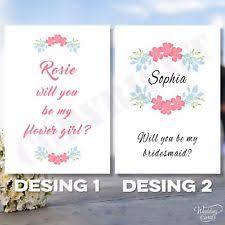 invitation to be a bridesmaid envelope wedding be my bridesmaid cards personalised ebay