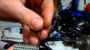 removing pins from honda motorcyle ecu wiring harness youtube
