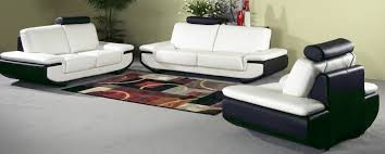 popular black and white leather sofa set with leather sofa black