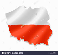 National Flags With Orange Poland Polish Country Map Outline With National Flag Inside Stock