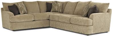 Klaussner Fabrics Contemporary L Shaped Sectional Sofa By Klaussner Wolf And