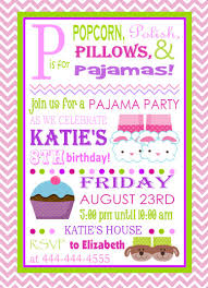 slumber invitation idea 11yrs has came to